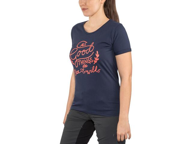 Triple2 Laag Handwrite T-Shirt Women Damen peacoat